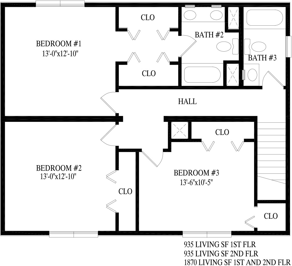 Chesapeake 1 on 2 story home addition plans