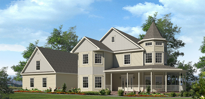 Devonshire two story style modular homes for Victorian style manufactured homes
