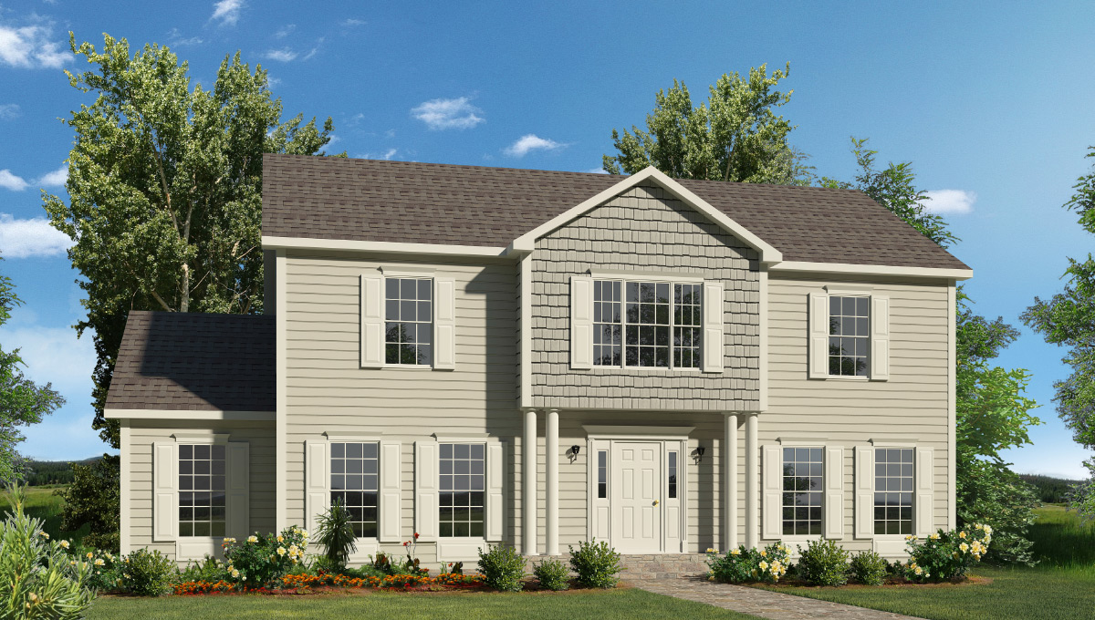 Fayette two story style modular homes for Single story modular homes