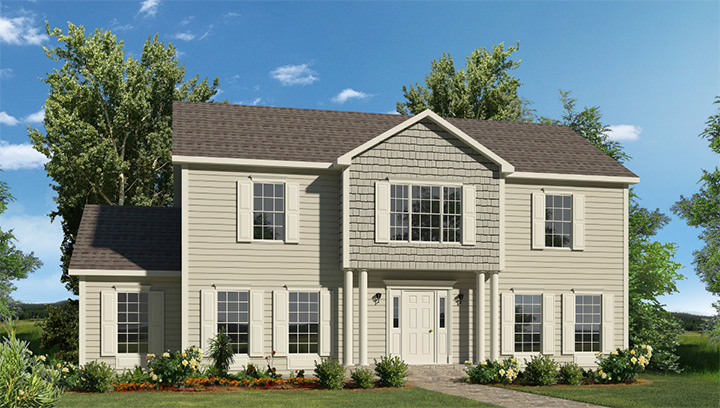 Fayette two story style modular homes for One story modular homes
