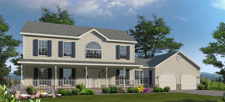 Helena two story style modular homes for Home builders helena mt