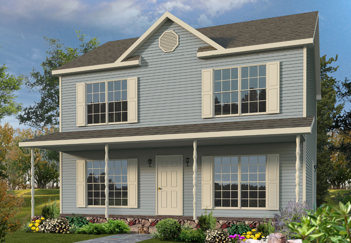 Klondike two story style modular homes for Two story house styles