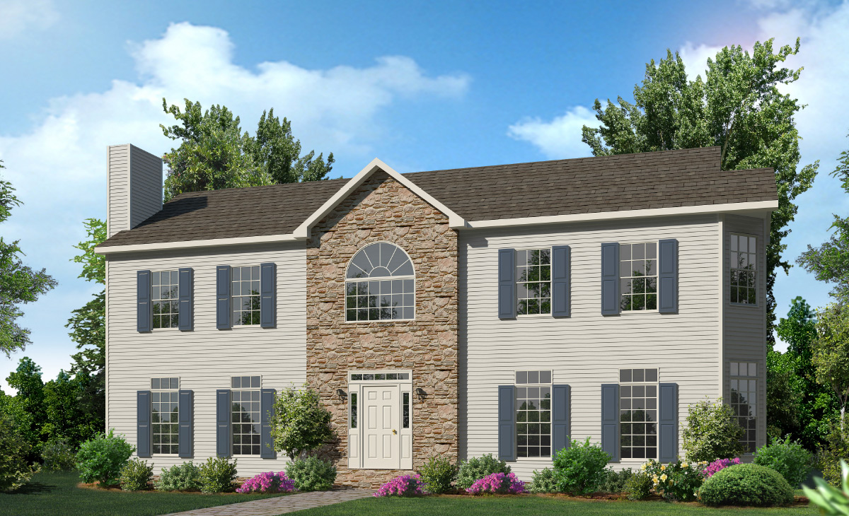 Belmont two story style modular homes for Two story house styles