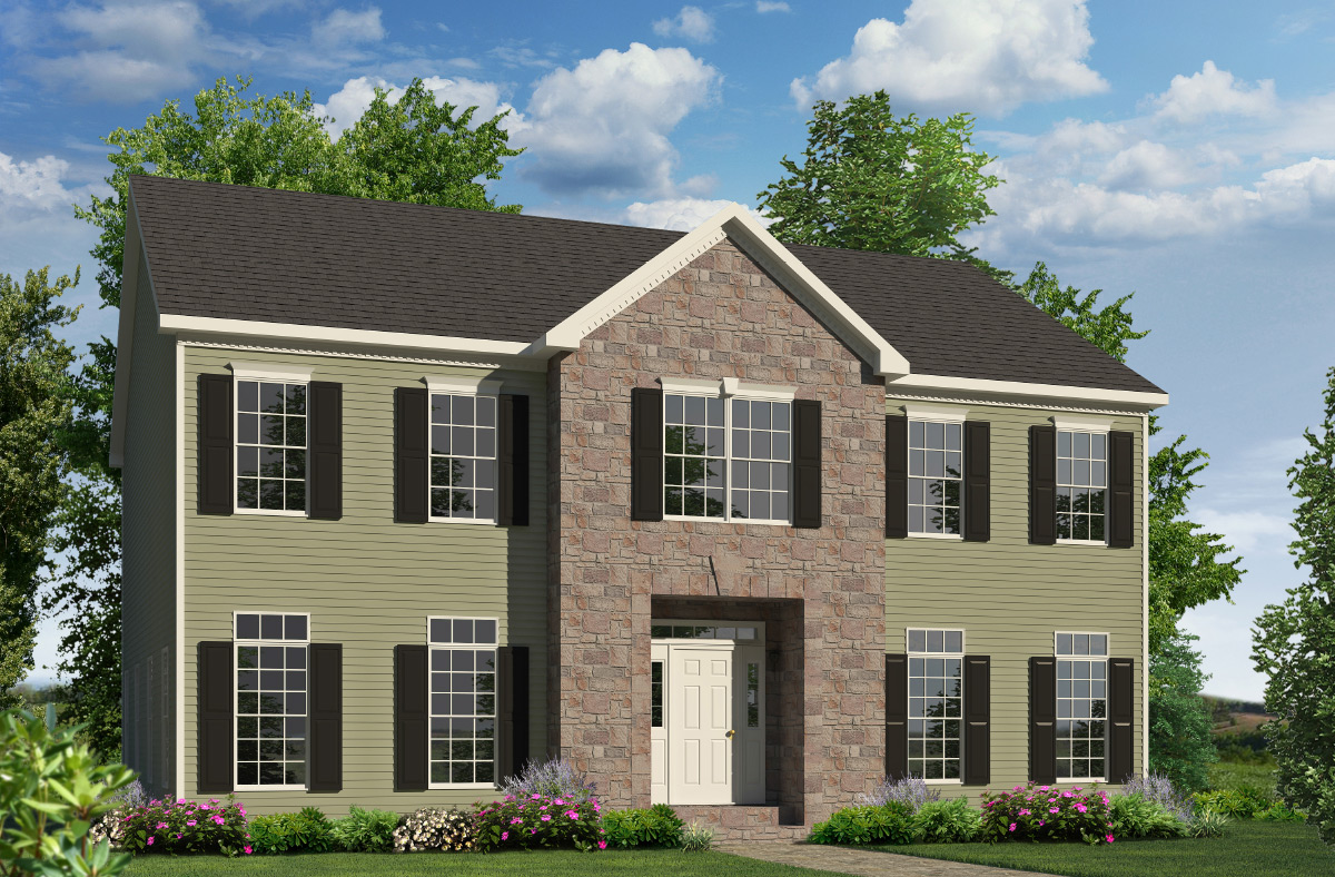 Meadowview two story style modular homes for Two story house styles