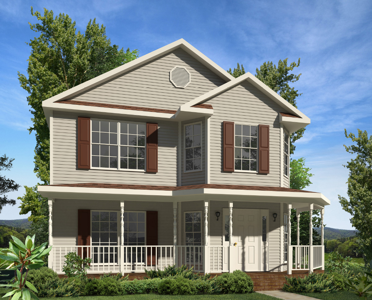 Monroe two story style modular homes for Two story home