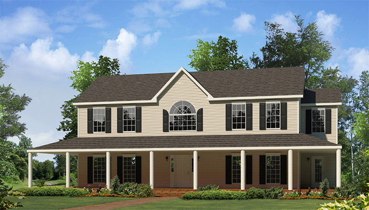 Montgomery two story style modular homes for Custom modular homes washington