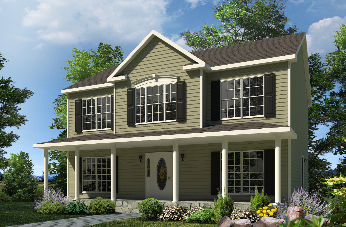 Morris two story style modular homes for New two story homes