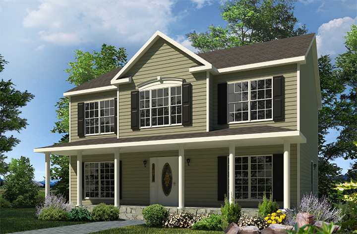 Morris two story style modular homes for Morris home
