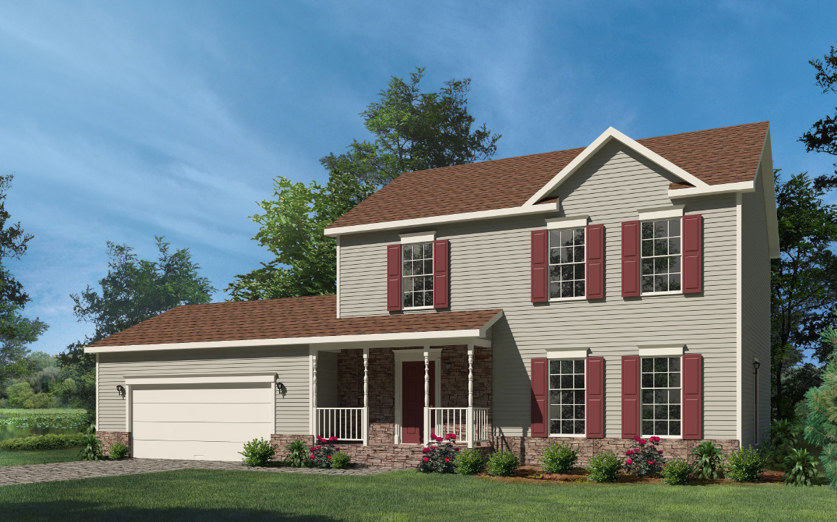 Washington two story style modular homes for New two story homes