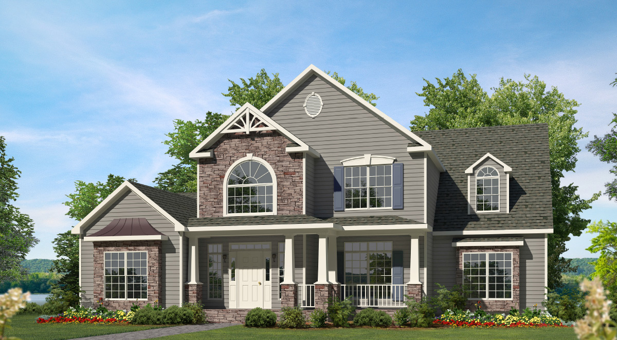 Willow two story style modular homes - Two story holiday homes ...