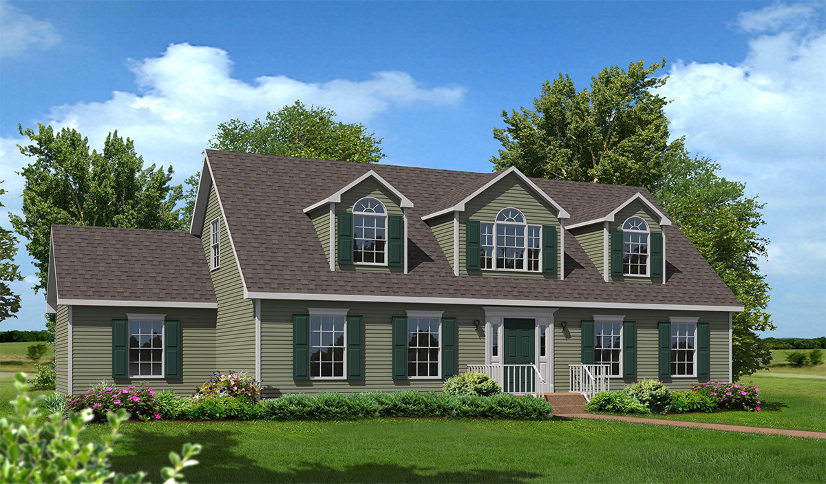 Cameron iii cape style modular homes for Cape cod model homes
