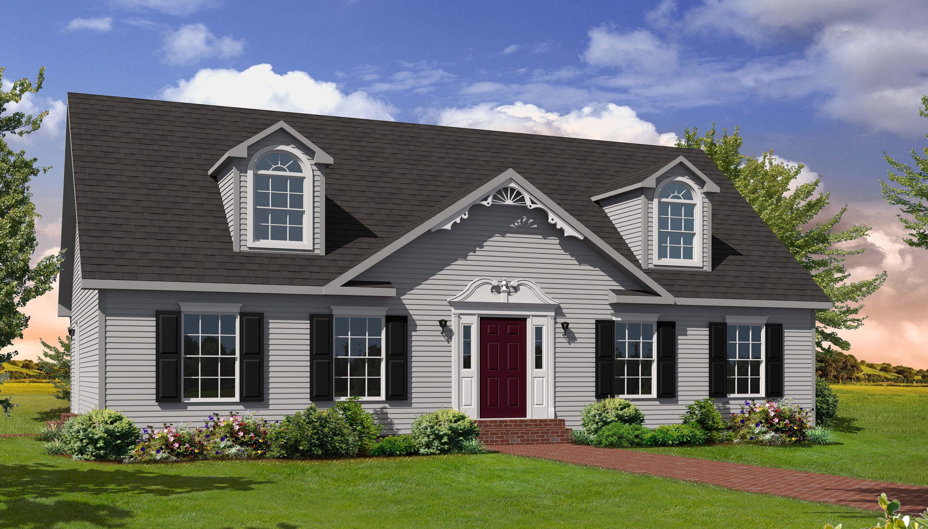 Huntington i cape style modular homes for Modular home styles