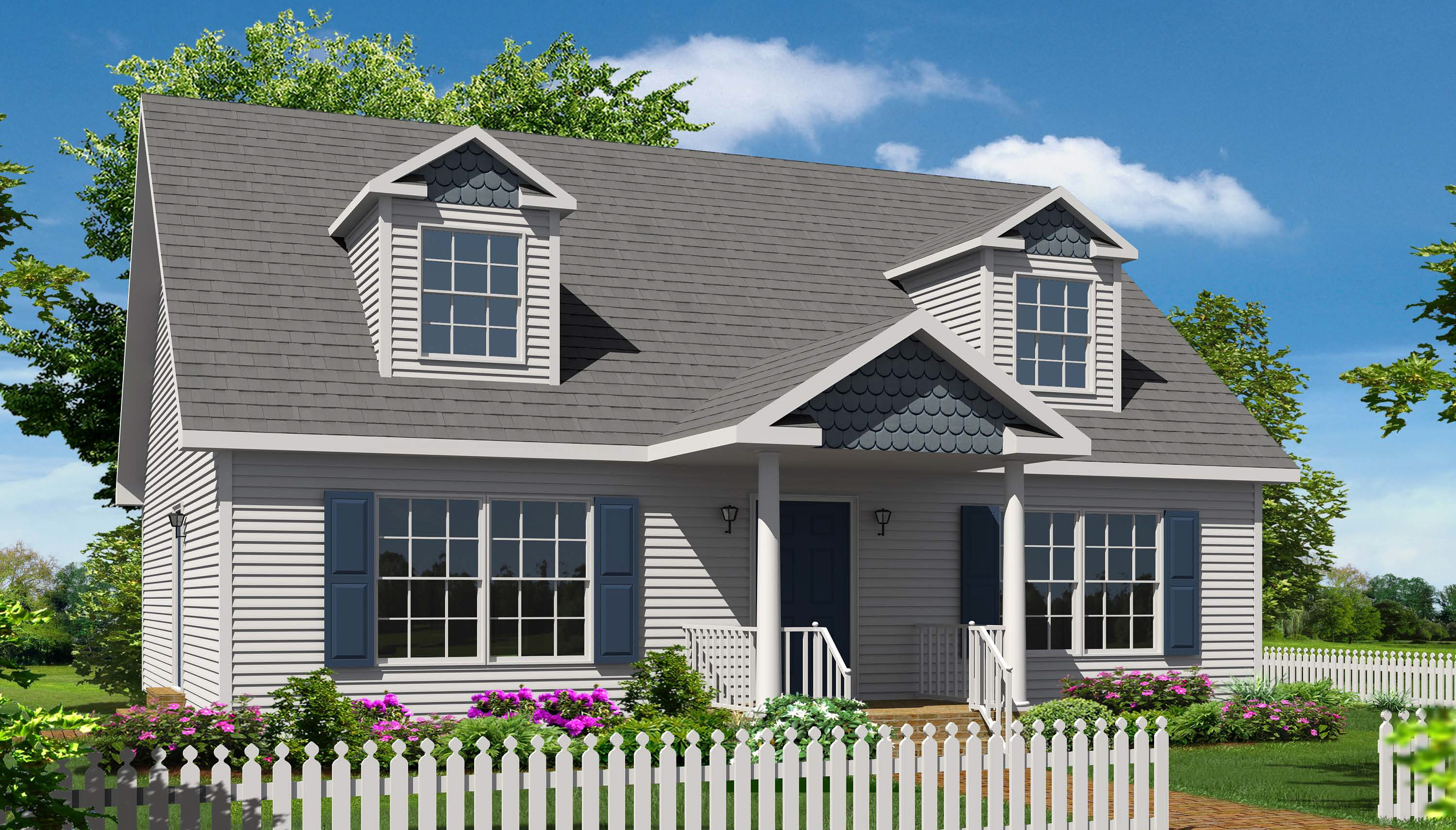Northampton i cape style modular homes for Modular cape cod homes