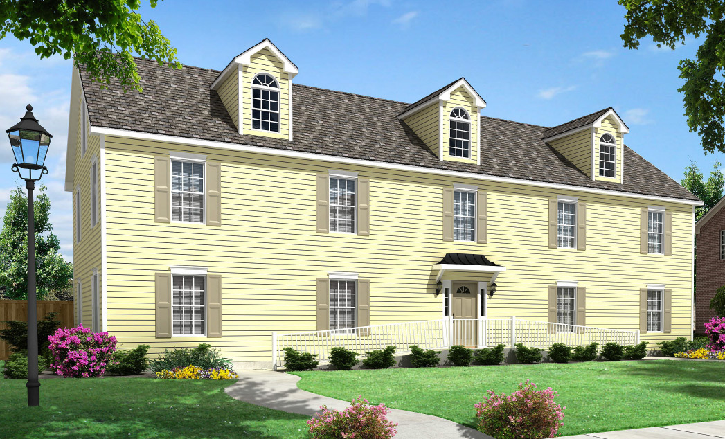 Belmont duplex townhouse style modular homes for Modular duplexes