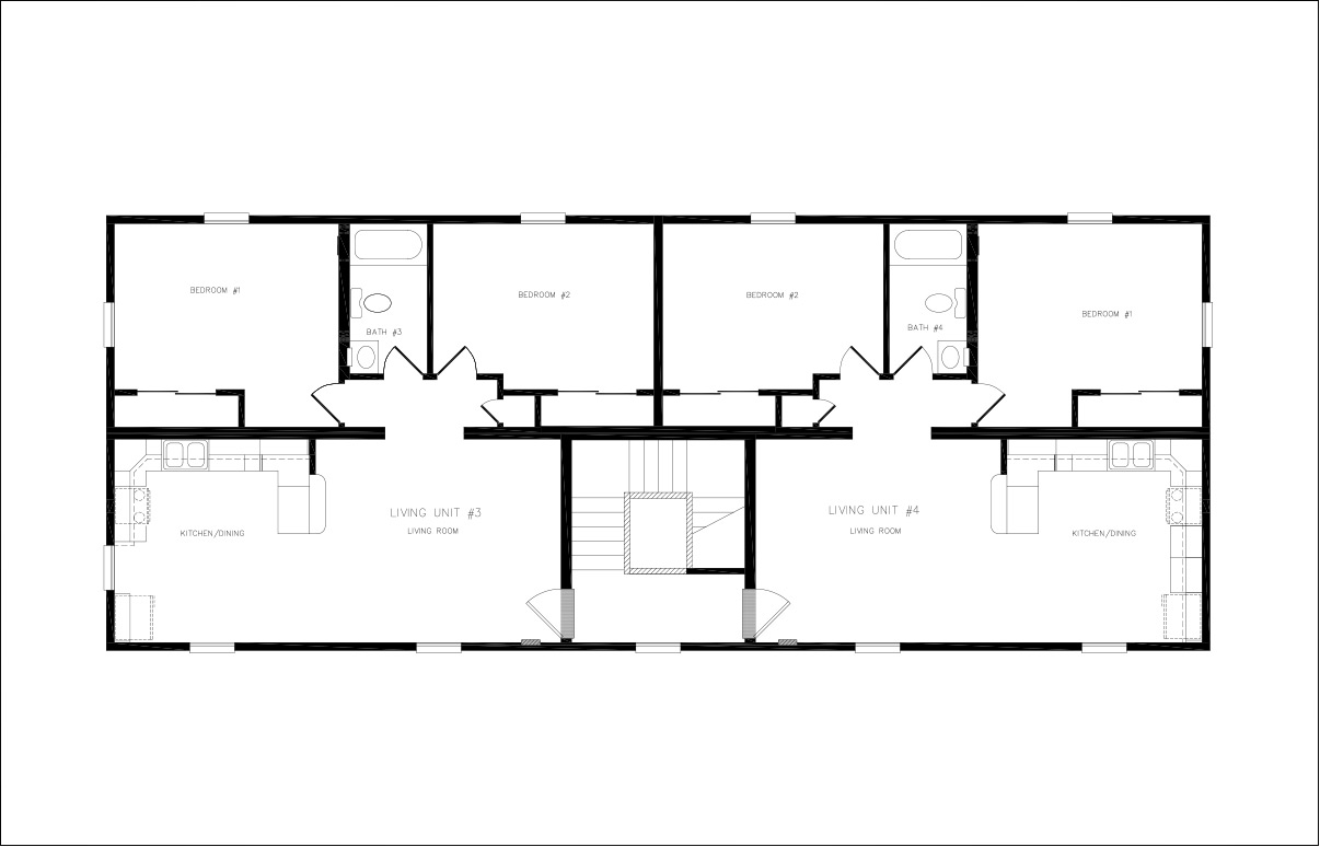Belmont duplex townhouse style modular homes for Modular duplex floor plans