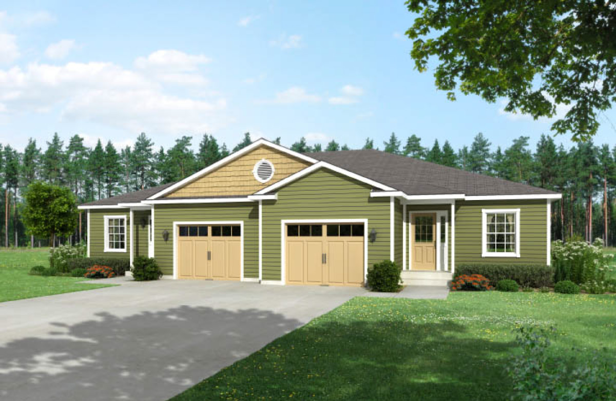 Eagles mere duplex townhouse style modular homes Ranch style duplex plans