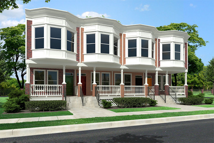 Woodbridge duplex townhouse style modular homes for Duplex modular homes