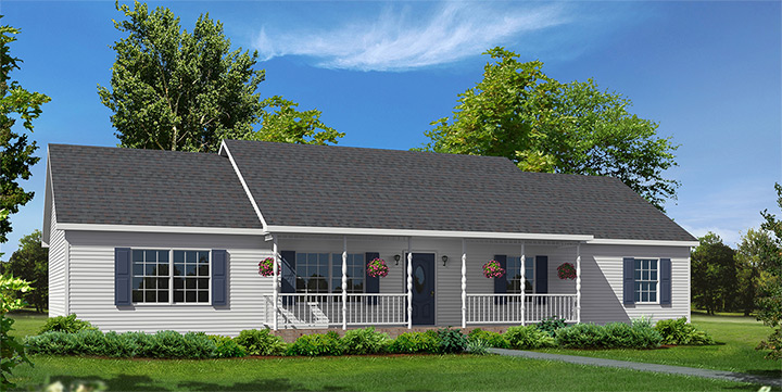 Mill brook ranch style modular homes for Custom ranch home builders maryland