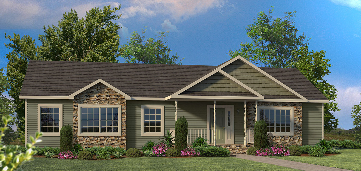 Delightful One Story Modular Homes #5: Timber Ridge
