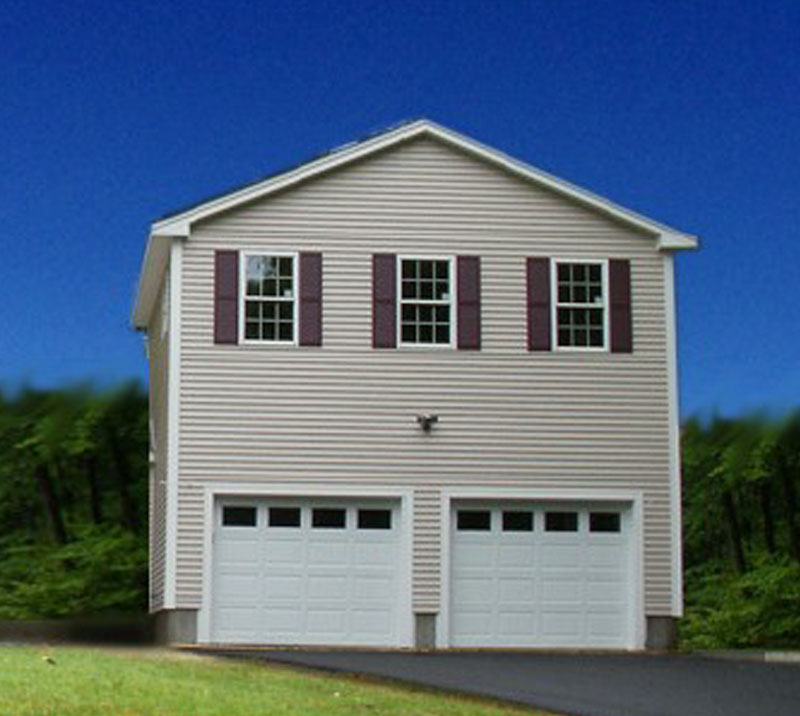 24x36 2 Car 2 Story Garage: Two Story Style Garages From GBI-Avis