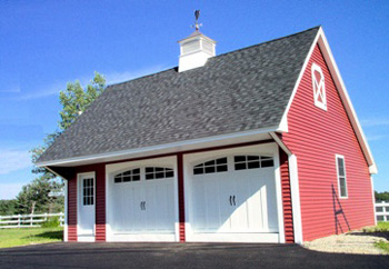 Carriage house style garages from gbi avis for Modular carriage house garage