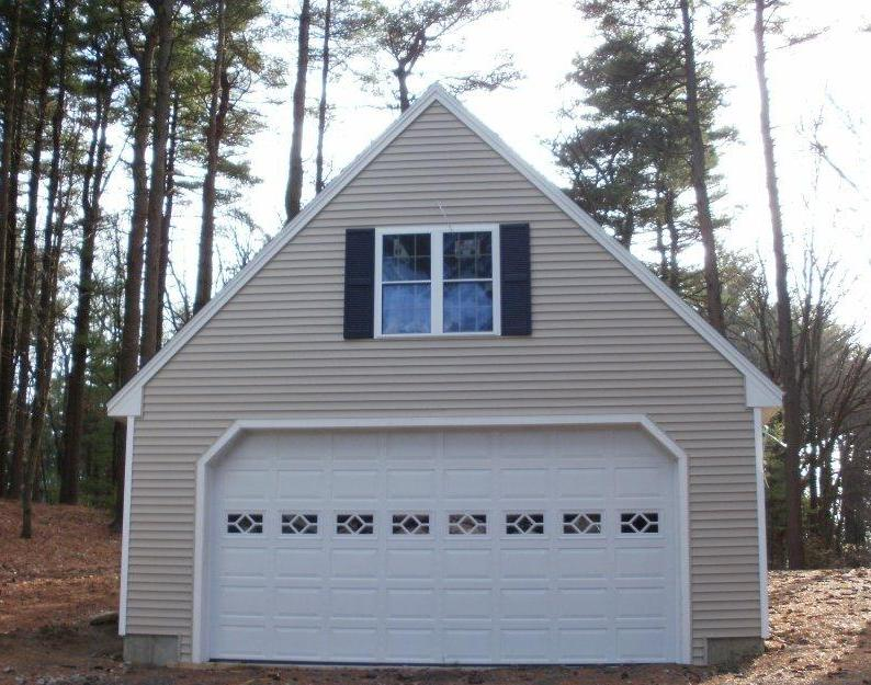 Photo gallery of modular homes garages and gbi avis projects for Prefab gambrel roof trusses